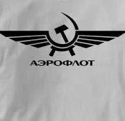 Aeroflot T Shirt Russian GRAY Airlines T Shirt Aviation T Shirt Soviet T Shirt Russian T Shirt