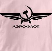 Aeroflot T Shirt Russian PINK Airlines T Shirt Aviation T Shirt Soviet T Shirt Russian T Shirt