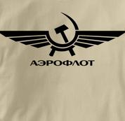 Aeroflot T Shirt Russian TAN Airlines T Shirt Aviation T Shirt Soviet T Shirt Russian T Shirt