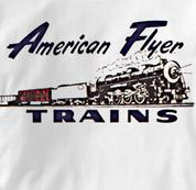 American Flyer T Shirt Vintage Logo WHITE Railroad T Shirt Train T Shirt Vintage Logo T Shirt
