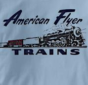 American Flyer T Shirt Vintage Logo BLUE Railroad T Shirt Train T Shirt Vintage Logo T Shirt