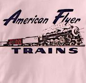American Flyer T Shirt Vintage Logo PINK Railroad T Shirt Train T Shirt Vintage Logo T Shirt