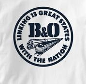 Baltimore & Ohio T Shirt Linking States WHITE Railroad T Shirt Train T Shirt B&O Museum T Shirt Linking States T Shirt