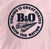 Baltimore & Ohio T Shirt Linking States PINK Railroad T Shirt Train T Shirt B&O Museum T Shirt Linking States T Shirt
