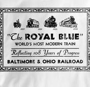 Baltimore & Ohio T Shirt Royal Blue WHITE Railroad T Shirt Train T Shirt B&O Museum T Shirt Royal Blue T Shirt