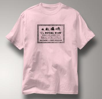 Baltimore & Ohio T Shirt Royal Blue PINK Railroad T Shirt Train T Shirt B&O Museum T Shirt Royal Blue T Shirt