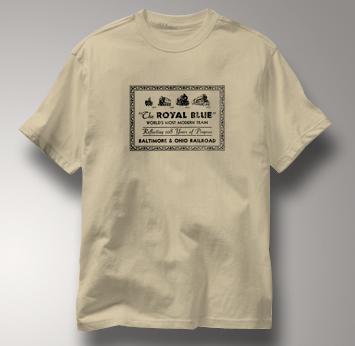 Baltimore & Ohio T Shirt Royal Blue TAN Railroad T Shirt Train T Shirt B&O Museum T Shirt Royal Blue T Shirt