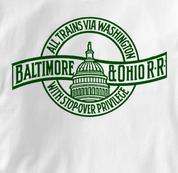 Baltimore & Ohio T Shirt Stopover Privelege WHITE Railroad T Shirt Train T Shirt B&O Museum T Shirt Stopover Privelege T Shirt