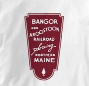Bangor and Aroostook T Shirt BAR WHITE Railroad T Shirt Train T Shirt B&O Museum T Shirt BAR T Shirt