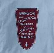 Bangor and Aroostook T Shirt BAR BLUE Railroad T Shirt Train T Shirt B&O Museum T Shirt BAR T Shirt