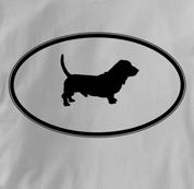 Basset Hound T Shirt Oval Profile GRAY Dog T Shirt Oval Profile T Shirt