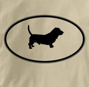 Basset Hound T Shirt Oval Profile TAN Dog T Shirt Oval Profile T Shirt