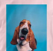 Basset Hound T Shirt Portrait PINK Dog T Shirt Portrait T Shirt