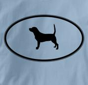 Beagle T Shirt Oval Profile BLUE Dog T Shirt Oval Profile T Shirt