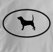 Beagle T Shirt Oval Profile GRAY Dog T Shirt Oval Profile T Shirt