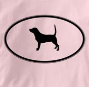 Beagle T Shirt Oval Profile PINK Dog T Shirt Oval Profile T Shirt