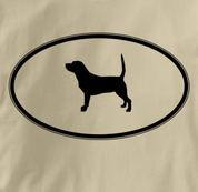 Beagle T Shirt Oval Profile TAN Dog T Shirt Oval Profile T Shirt