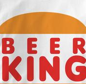 Beer King T Shirt WHITE Beer T Shirt