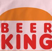 Beer King T Shirt PINK Beer T Shirt