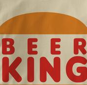 Beer King T Shirt TAN Beer T Shirt
