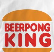 Beer Pong T Shirt Pong King WHITE Beer T Shirt King T Shirt Pong King T Shirt