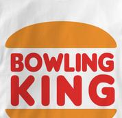 Bowling King T Shirt WHITE Bowling T Shirt
