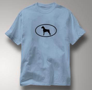 Boxer T Shirt Oval Profile BLUE Dog T Shirt Oval Profile T Shirt
