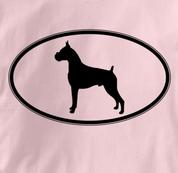 Boxer T Shirt Oval Profile PINK Dog T Shirt Oval Profile T Shirt