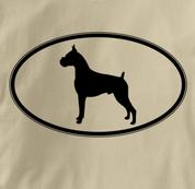 Boxer T Shirt Oval Profile TAN Dog T Shirt Oval Profile T Shirt