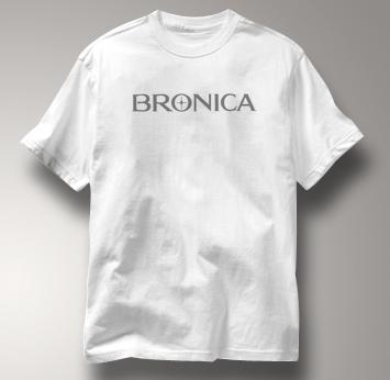 Bronica Camera T Shirt Vintage Logo WHITE Vintage Logo T Shirt