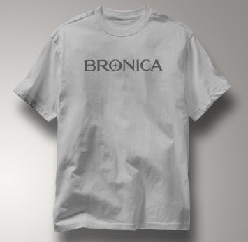 Bronica Camera T Shirt Vintage Logo GRAY Vintage Logo T Shirt