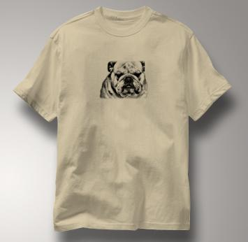 Bulldog T Shirt Portrait BW TAN Dog T Shirt Portrait BW T Shirt