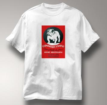 Bulldog T Shirt Expo WHITE Dog T Shirt Expo T Shirt