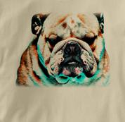 Bulldog T Shirt Portrait TAN Dog T Shirt Portrait T Shirt