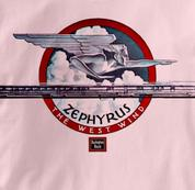 Burlington Route T Shirt Zephyr West Wind PINK Railroad T Shirt Train T Shirt Zephyr West Wind T Shirt