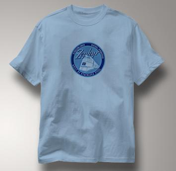 Burlington Route T Shirt Streamlined Diesel BLUE Railroad T Shirt Train T Shirt Streamlined Diesel T Shirt