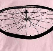 Bicycle T Shirt Busted Wheel Mountain Touring PINK Cycling T Shirt Busted Wheel Mountain Touring T Shirt