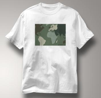 Peace T Shirt Camouflage WHITE Camouflage T Shirt