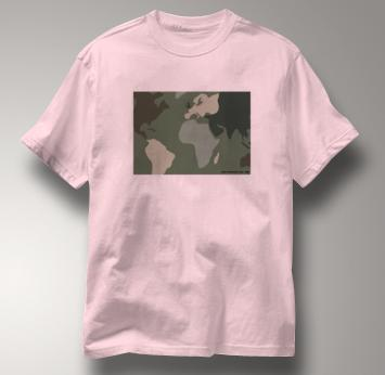 Peace T Shirt Camouflage PINK Camouflage T Shirt