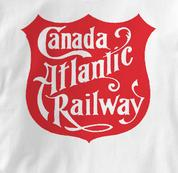 Canada Atlantic Railway T Shirt Vintage Logo WHITE Railroad T Shirt Train T Shirt Vintage Logo T Shirt