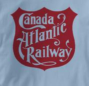 Canada Atlantic Railway T Shirt Vintage Logo BLUE Railroad T Shirt Train T Shirt Vintage Logo T Shirt