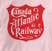 Canada Atlantic Railway T Shirt Vintage Logo PINK Railroad T Shirt Train T Shirt Vintage Logo T Shirt
