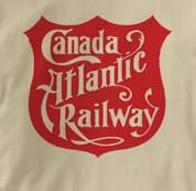 Canada Atlantic Railway T Shirt Vintage Logo TAN Railroad T Shirt Train T Shirt Vintage Logo T Shirt