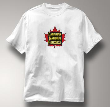 Canada National Railway T Shirt Vintage WHITE Railroad T Shirt Train T Shirt Vintage T Shirt