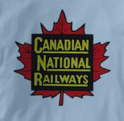 Canada National Railway T Shirt Vintage BLUE Railroad T Shirt Train T Shirt Vintage T Shirt
