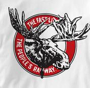 Canada National Railway T Shirt Vintage Moose WHITE Railroad T Shirt Train T Shirt Vintage Moose T Shirt