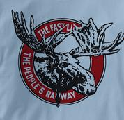 Canada National Railway T Shirt Vintage Moose BLUE Railroad T Shirt Train T Shirt Vintage Moose T Shirt