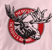 Canada National Railway T Shirt Vintage Moose PINK Railroad T Shirt Train T Shirt Vintage Moose T Shirt