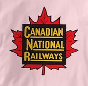 Canada National Railway T Shirt Vintage PINK Railroad T Shirt Train T Shirt Vintage T Shirt