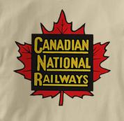 Canada National Railway T Shirt Vintage TAN Railroad T Shirt Train T Shirt Vintage T Shirt